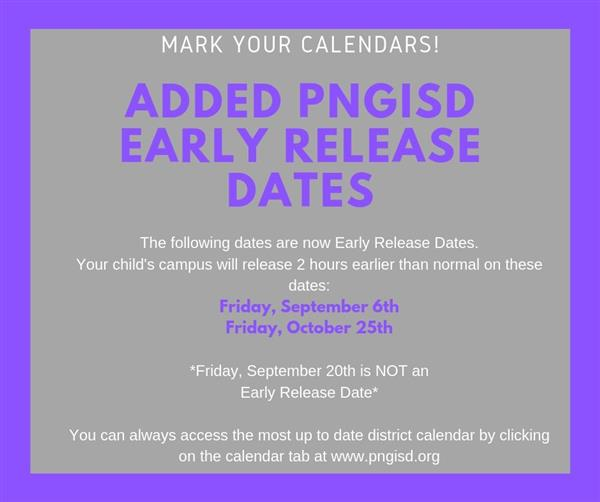 early release dates added  9/6/2019 and 10/25/2019